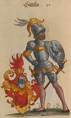 Sättelin Wappen - Paul Hektor Mairs - Geschlechterbuch der Stadt Augsburg - Cod.icon. 312 b.png