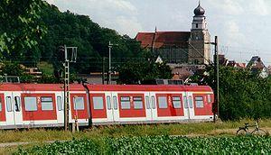 Herrenberg - The S-Bahn train