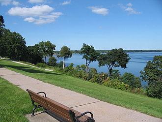 Finger Lakes - Seneca Lake, from South Main Street in Geneva, New York.