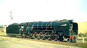 South African Class 15E 4-8-2 - Henschel-built no. 2878 at Magaliesburg, 26 July 1992
