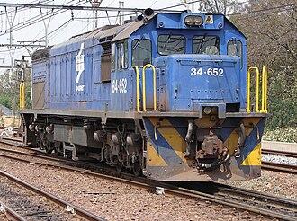 South African Class 34-600 - Image: SAR Class 34 600 84 652
