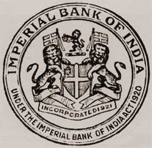 State Bank of India - Seal of Imperial Bank of India