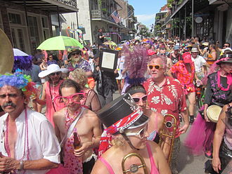 Southern Decadence - Decadence participants parading down Royal Street.