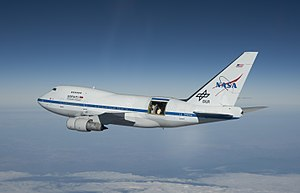 Stratospheric Observatory for Infrared Astronomy - SOFIA during flight