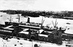 SS Mongolia at St. Pauli Landungsbrücken, Germany, between 1920 and 1923 (NH 105919).jpg