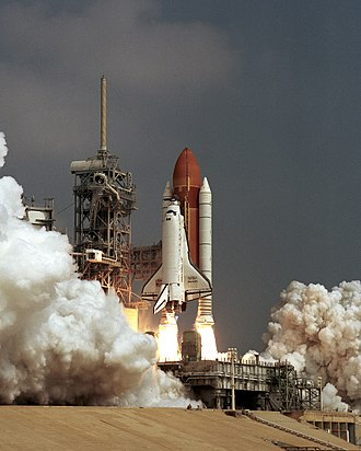 STS-85 - STS-85 launches from the Kennedy Space Center, 7 August 1997