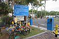 SZ 深圳灣公園 Shenzhen Bay Park blue sign n bike parking 望海路 Wanghai Road June 2017 IX1 01.jpg