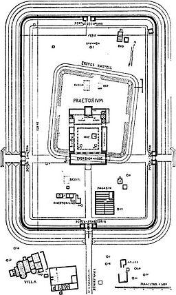Saalburg castellum plan