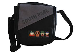 Tie-in - This pannier bag is a tie-in product from the TV series South Park.