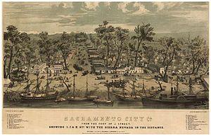 Sacramento, California - Sacramento in 1849