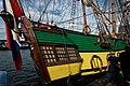 Sail Amsterdam - De Ruyterkade - View NE on the Stern of Frigate Shtandart 1703 - Replica 1999 the first ship of Czar Peter I's Baltic Fleet.jpg