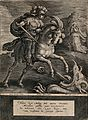 Saint George. Line engraving by P. Galle after A. Collaert a Wellcome V0032147.jpg