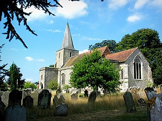 Pluckley - Image: Saint Nicholas Church, Pluckley geograph.org.uk 231158