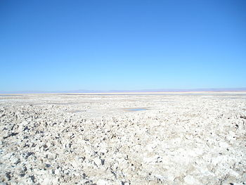 Salar de Atacama salt flat in the Chilean puna