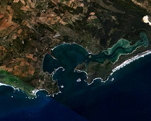 Battle of Saldanha Bay (1781) - Present day Saldanha Bay
