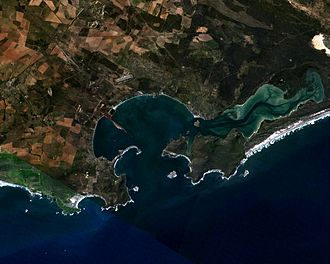 Saldanha Bay - Present day Saldanha Bay. To the right (south) is the Langebaan lagoon
