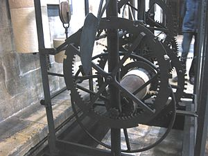 Salisbury cathedral clock - The striking train of the clock
