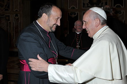 Bishop Gabriel Barba and Pope Francis Saludo en el Vaticano.JPG