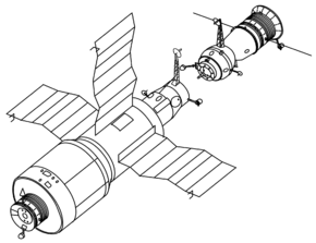 Description de l'image Salyut 4 and Soyuz drawing.png.