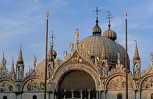 Renaissance music - San Marco in the evening. The spacious, resonant interior was one of the inspirations for the music of the Venetian School.