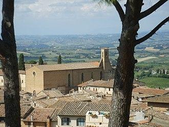 Sant'Agostino Church, San Gimignano - Sant'Agostino seen from the castle.