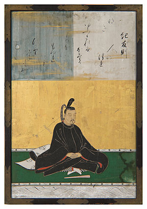 Thirty-Six Immortals of Poetry - Ki no Tomonori by Kanō Tan'yū, 1648