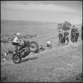 Santa Clara County, California. Motorcycle and Hill Climb Recreation. At the start of the course. The going gets even... - NARA - 532256.tif