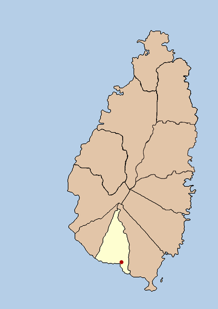 Location of Laborie, a village known for the koutoumba tradition Santa lucia laborie political.png