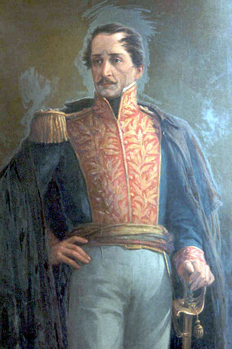 Francisco de Paula Santander - Oil painting by Ricardo Acevedo Bernal.