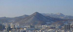 Nishi-ku, Sapporo - Sankaku-yama in winter