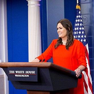 Sarah Sanders - Image: Sarah Huckabee Sanders