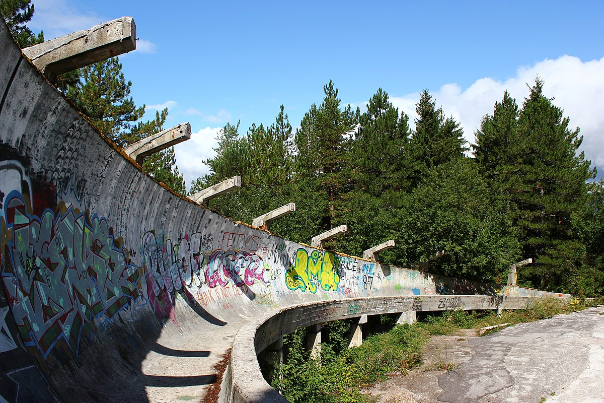 Sarajevo Olympic Bobsleigh And Luge Track Wikipedia - 30 haunting images abandoned olympic venues