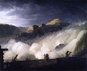 Sarp Falls - Sarpsfossen by Erik Pauelsen  (1749–1790)
