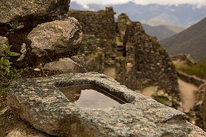 Sayacmarca - Partial view of Sayacmarca.