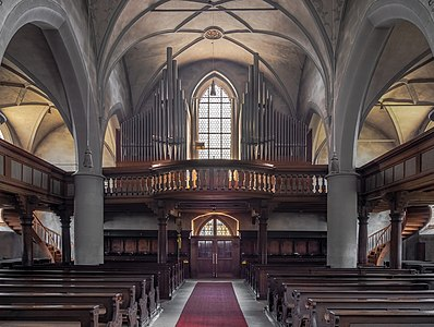 Organ loft of the catholic parish church St.Kilian in Scheßlitz