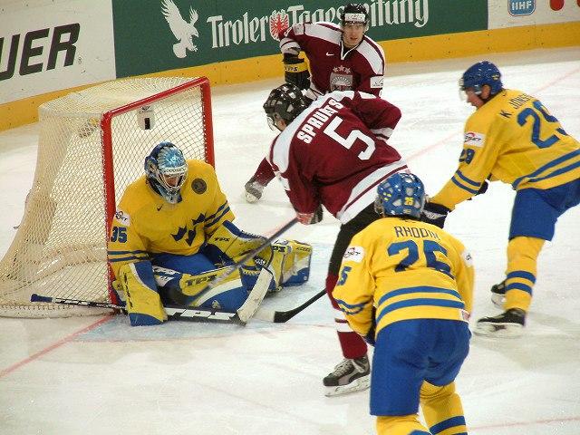 Schweden-Lettland bei der WM 2005