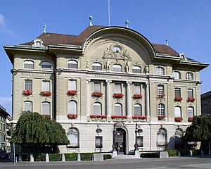 Banking in Switzerland - Swiss National Bank headquarters in Bern.