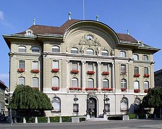 Banking in Switzerland - Swiss National Bank headquarters in Bern.