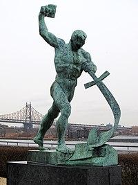 200px-Schwerter_zu_Pflugscharen_-_Jewgeni_Wutschetitsch_-_Geschenk_der_Sowjetunion_an_die_UNO_-_1959.jpg