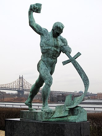 Disarmament - Let Us Beat Swords into Plowshares in the United Nations garden (1957)