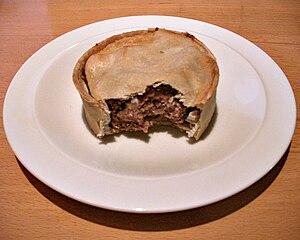Scotch pie - The same pie, partially eaten
