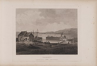 Cromarty - Etching of Cromarty from Scotia Depicta by James Fittler