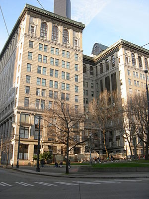King County, Washington - Image: Seattle City Hall Park & King County Courthouse 01