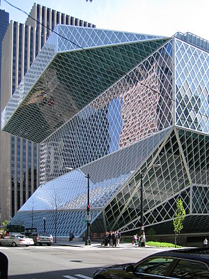 Deconstructivism - Seattle Central Library by Rem Koolhaas and OMA