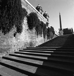 La scalinata di San Sebastianello