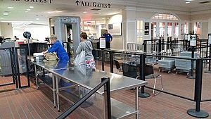 Wilmington International Airport - The recently upgraded security terminal inside the airport
