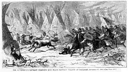 Seventh Cavalry Charging Black Kettle s Village 1868.jpg