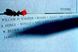 Kentucky Vietnam Veterans Memorial - Tip of Shadow on Name