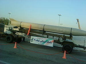 Shahab-2 at a 2012 military exhibition in Tehran, Iran