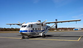 Uno Skyvan dell'Helsinki University of Technology fotografato presso l'Oulu Airport (EFOU), in Finlandia.